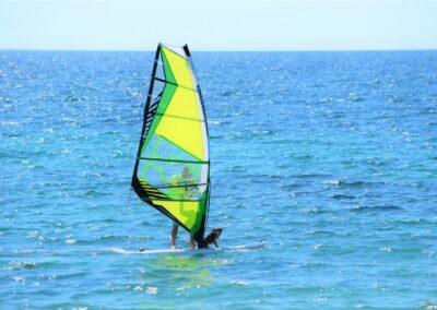 Windsurf nella baia di Porto Mandriola